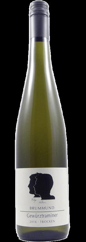 Flasche Gewürztraminer der Weinmanufaktur Brummund