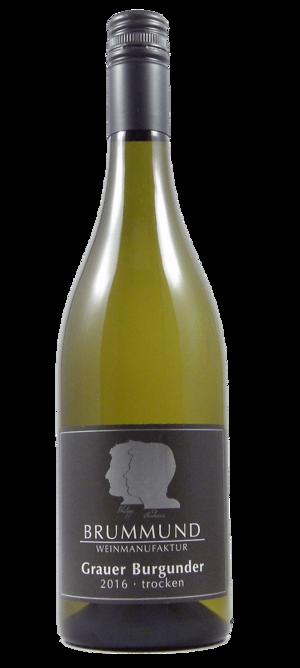 Weinflasche Grauburgunder der Weinmanufaktur Brummund
