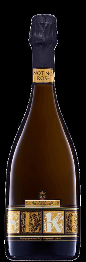 Flasche Pinot Noir Rosé Sekt