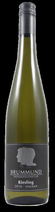 Weinflasche Riesling trocken der Weinmanufaktur Brummund