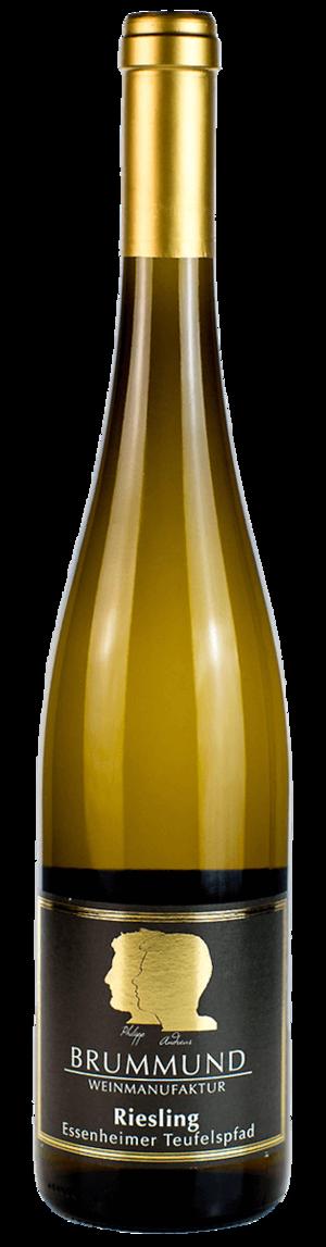 Weinflasche Riesling Essenheimer Teufelspfad der Weinmanufaktur Brummund