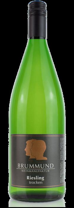 Ein-Liter-Weinflasche Riesling der Weinmanufaktur Brummund