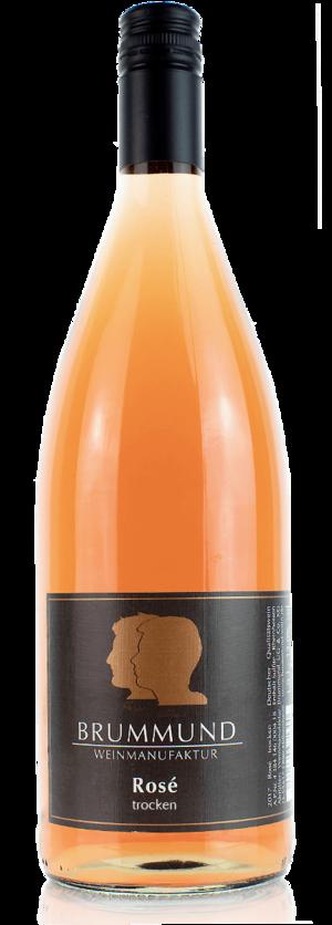 Ein-Liter-Weinflasche Rosé der Weinmanufaktur Brummund