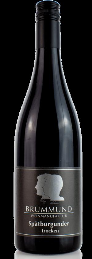 Weinflasche Spätburgunder der Weinmanufaktur Brummund