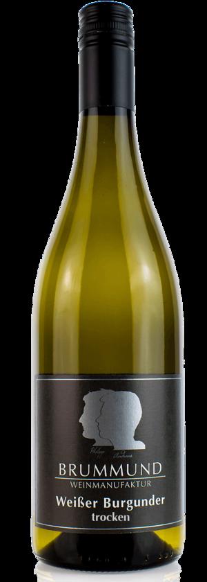 Weinflasche Weissburgunder der Weinmanufaktur Brummund